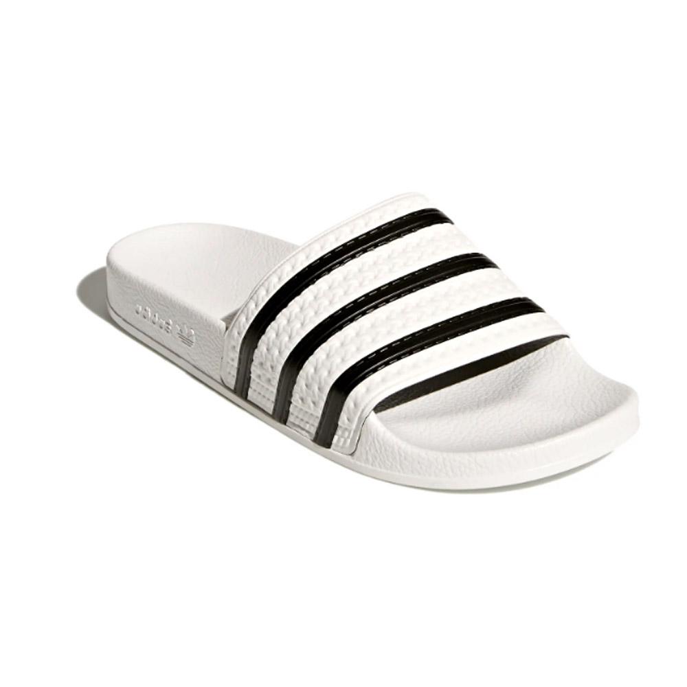 Adidas-Adilette-White-core-black-White
