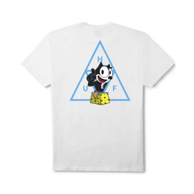 Huf X FELIX TRIPLE TRIANGLE S S TEE WHITE