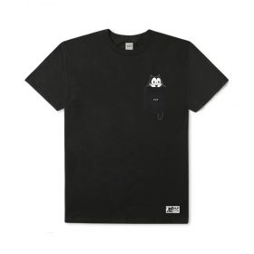 Huf X FELIX WATCHING POCKET TEE BLACK