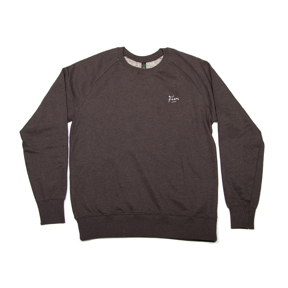 Fier Embroidered Crew Dark Grey