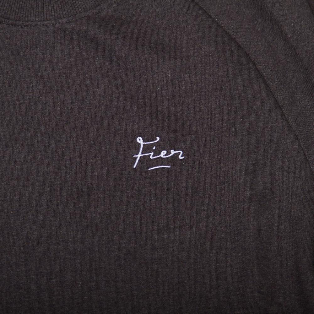 Fier Embroidered Crew Dark Grey