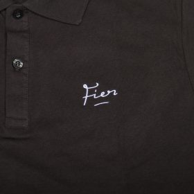 Fier Embroidered Polo Dark Grey