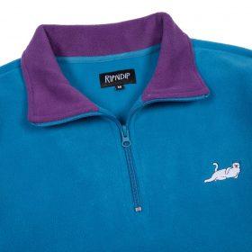 Rip N Dip Castanza Fleece Half Zip Jacket Baby Blue Lavender