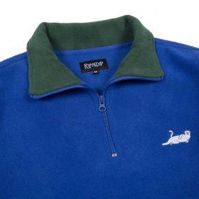 Rip N Dip Castanza Fleece Half Zip Jacket Navy Hunter green