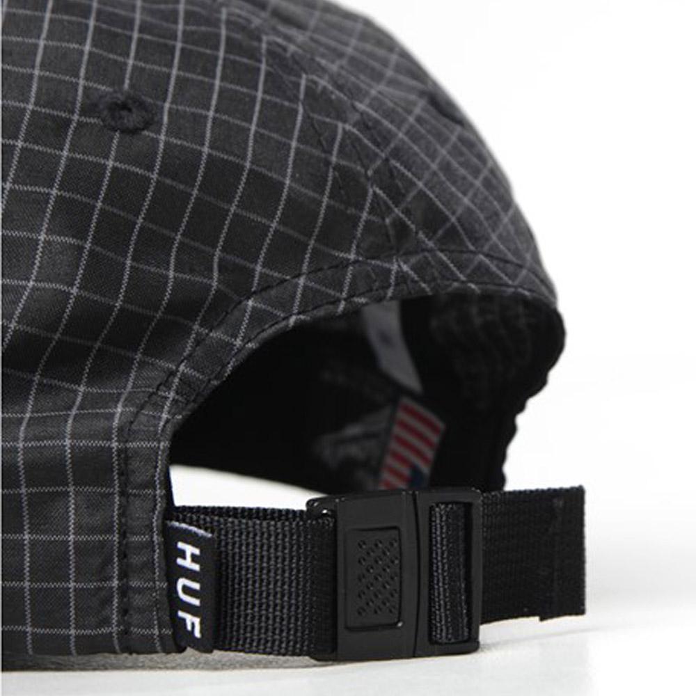 Huf-Flynn-Curved-Visor-6-Panel-Black