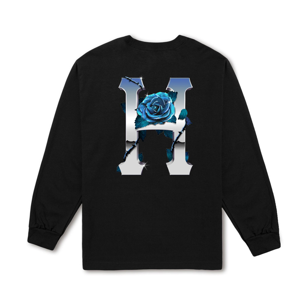 Huf-ICE-ROSE-CLASSIC-H-L-S-TEE_BLACK1