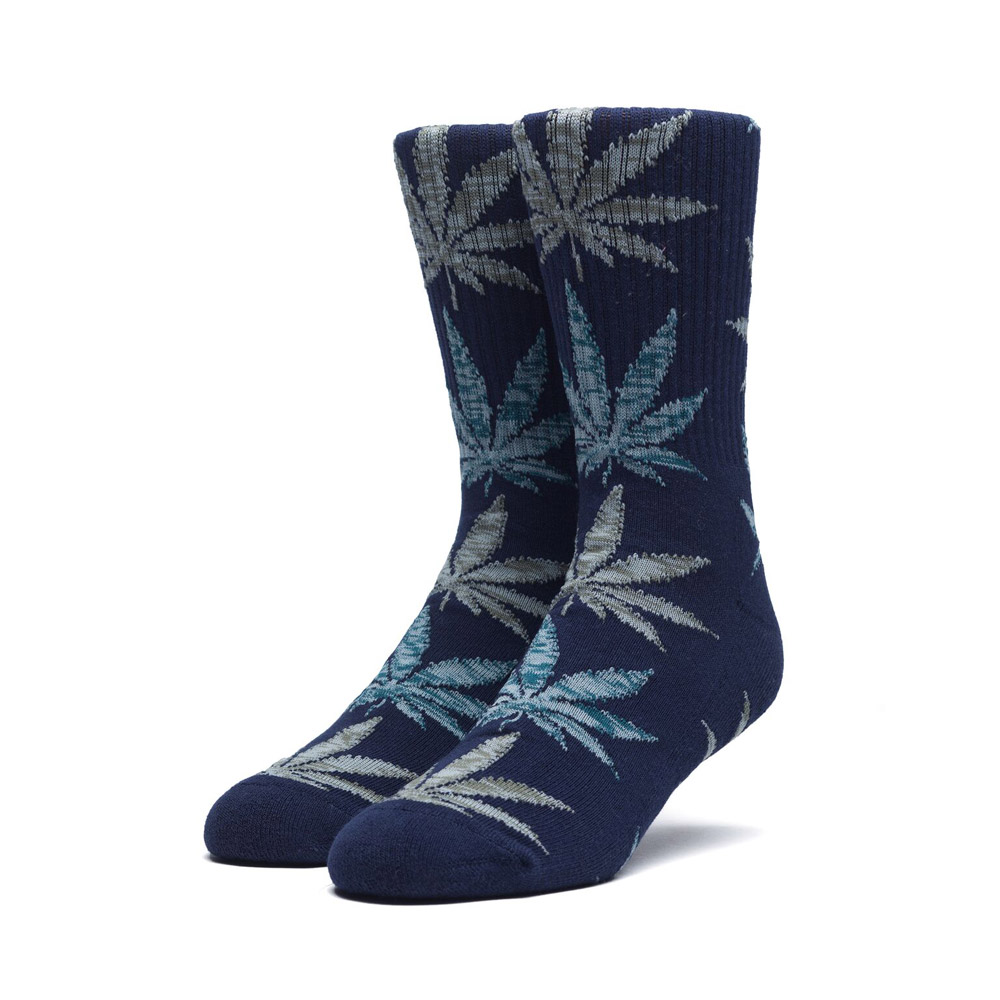Huf-Melange-Leaf-Crew-Socks-Moon-Indigo