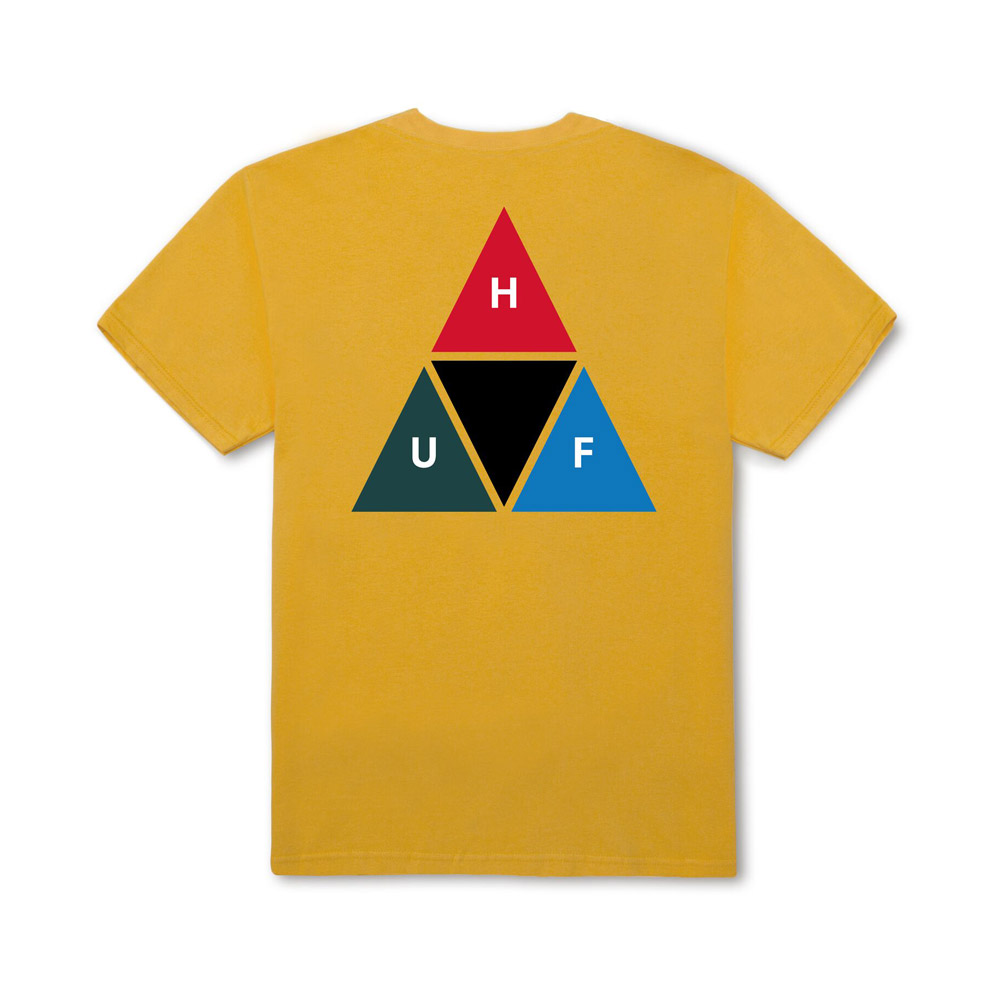 Huf-PRISM-TRIANGLE-S-S-TEE_MINERAL-YELLOW