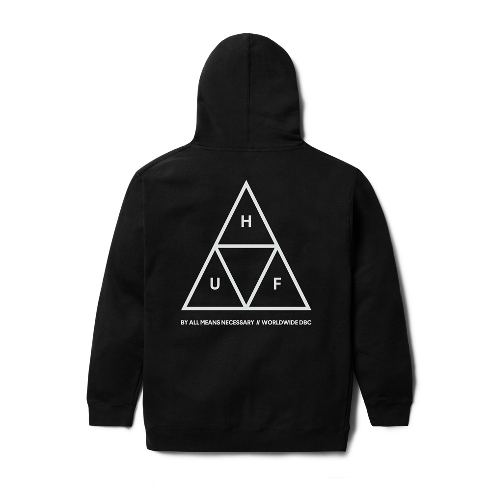 Huf-Triple-Triangle-Hood-black
