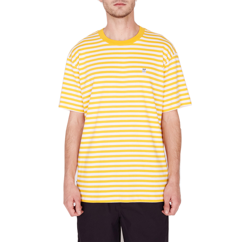 Obey-89-Icon-Stripe-Box-Tee-II-SS-Energy-Yellow-Multi