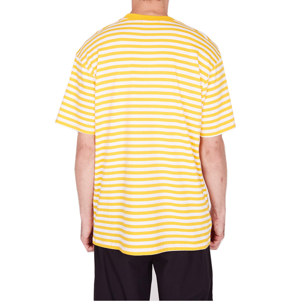 Obey 89 Icon Stripe Box Tee II SS Energy Yellow Multi