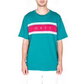 Obey-Charm-Classic-Tee-SS-Blue-Green-Multi