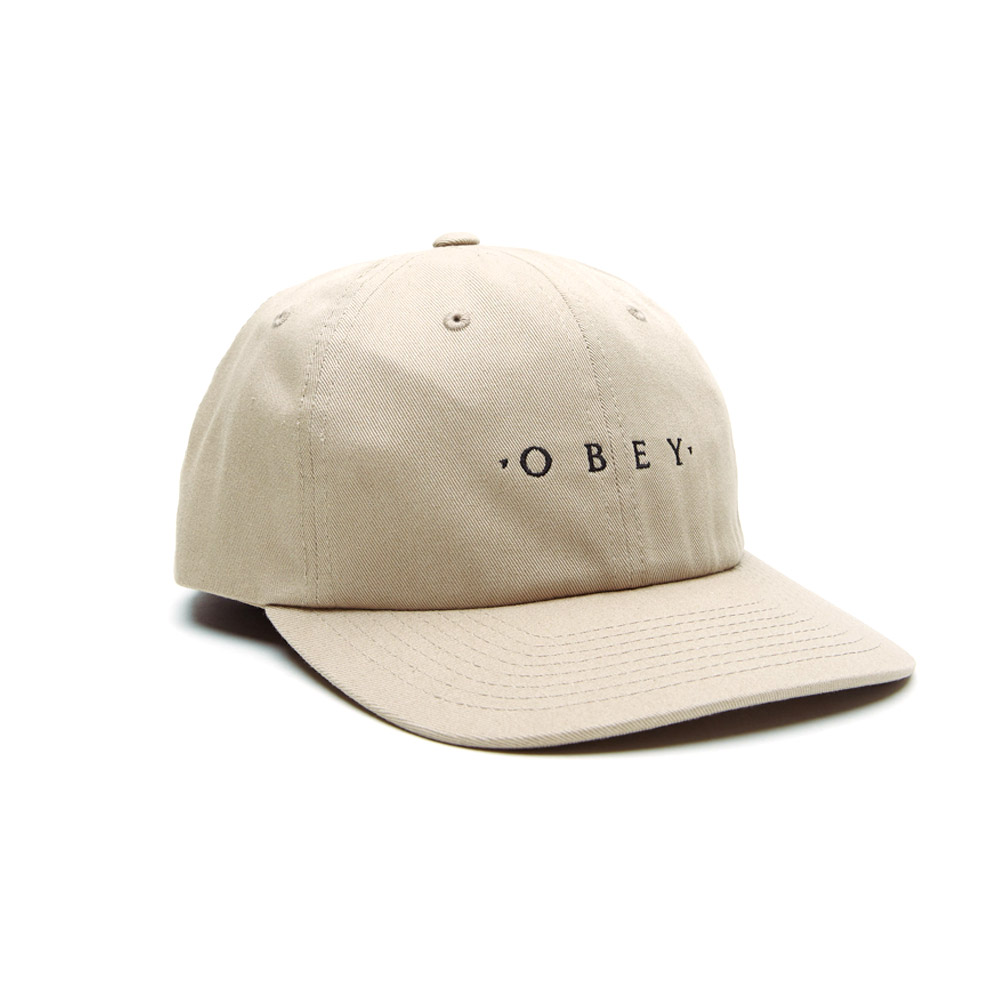 Obey-Intention-6-Panel-Snapback-Khaki