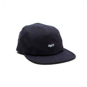 Obey-Jumble-Bar-II-5-Panel-Hat-Black