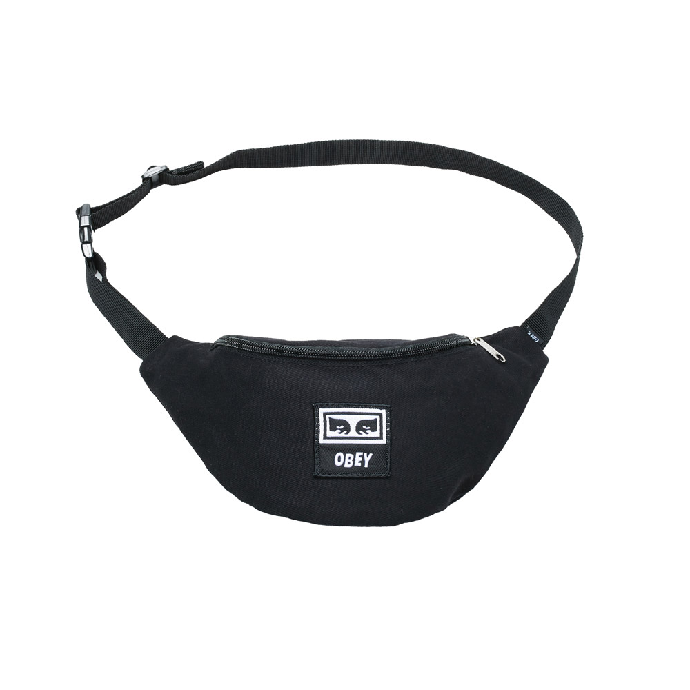 Obey-Wasted-Hip-Bag-Black-Twill