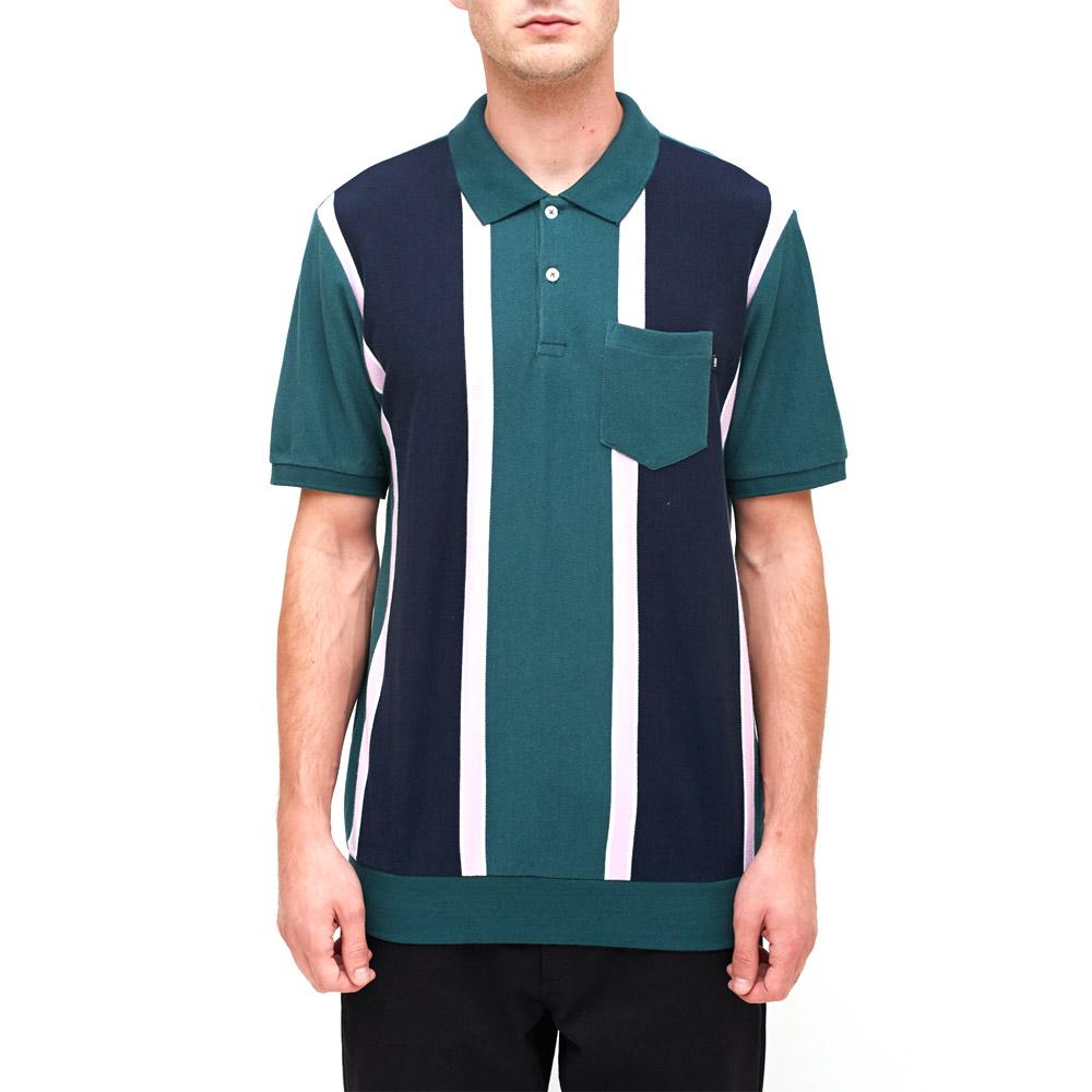 537727526 Obey Watermark polo Green Multi