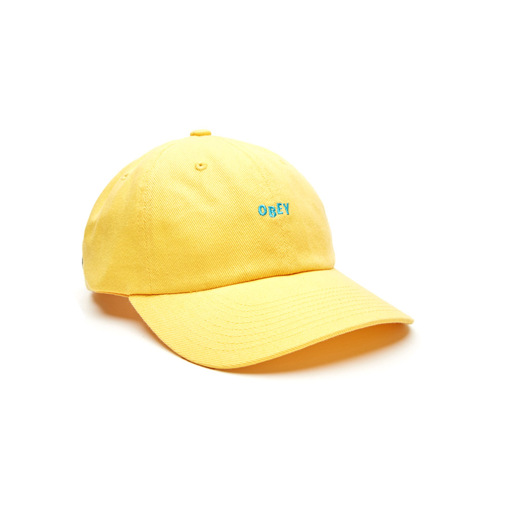 Obey-utty-6-Panel-Snapback-Pale-Yellow