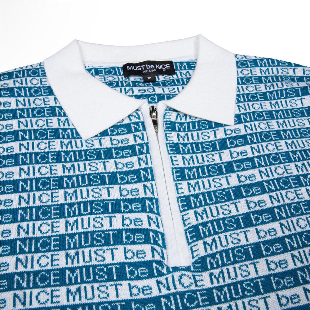 Rip-N-Dip-MBN-Half-Zip-Polo-BlueWhite