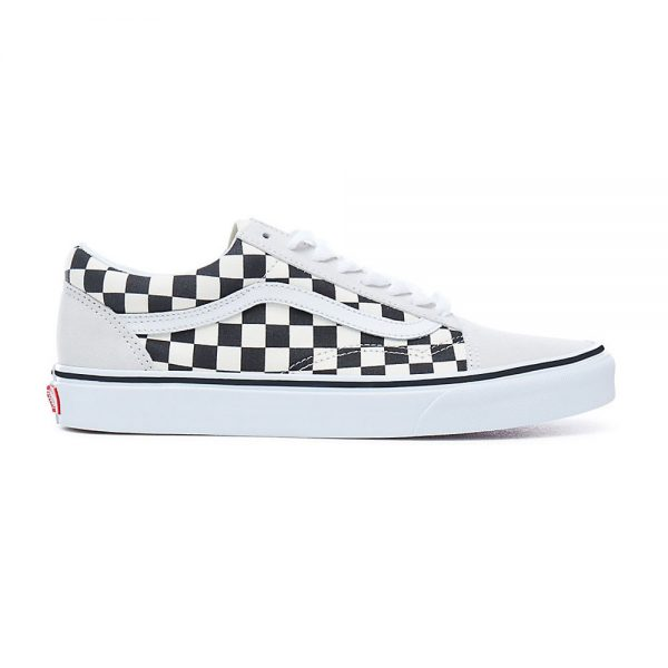 Black And White Checkered Leather Shoes