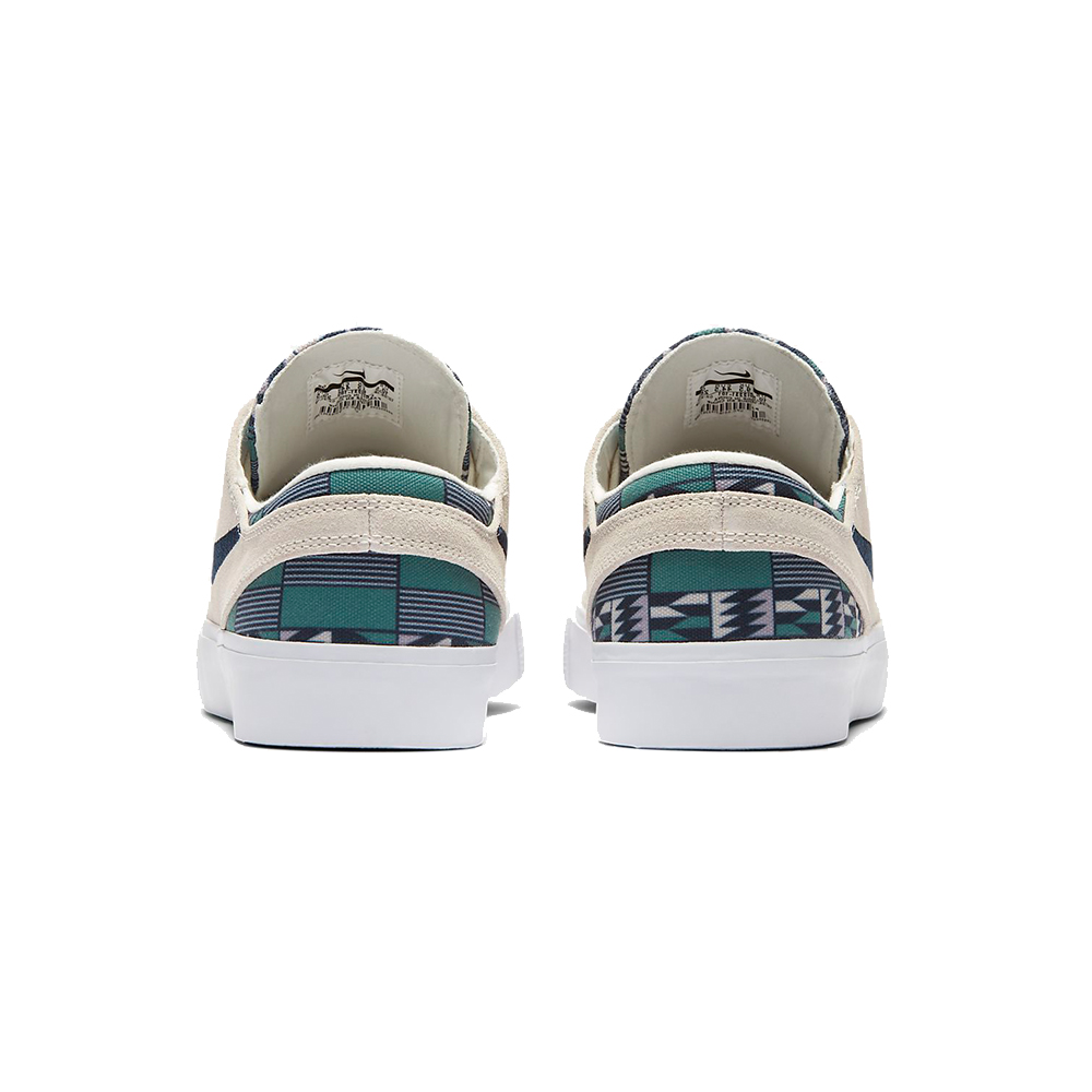 Now in stock the Nike SB Janoski RM Summit White Obsidian Multi. Remastered version of the iconic janoski shoe by Nike SB and Stefan Janoski. The Nike SB Janoski RM Summit White Obsidian Multi Premium edition stylizes the classic skate shoe with a punch of color. A patterned canvas sockliner with responsive zoom air full length cushioning that delivers the performance you need of a shoe. Back in '09, most skate shoes were big and bulky. Nike SB pro Stefan Janoski set out to break the mold with his signature shoe. He wanted to be able to feel everything underfoot, so we made it lower, flatter and lighter. The result showed Stefan's no-nonsense personality in every detail—right down to the motto on his old-school patch. Geometric shapes between the midsole and the outsole expand and contract in all directions for better boardfeel and flexibility. Rubber has been thinned out in key areas for a lightweight, broken-in feel right out of the box. Productcode: CI2231101 This Shoe Nike SB Janoski RM Summit White Obsidian Multi has a Fresh white and obsidian multi color scheme and has the classical nike swoosh. If ordered now it will be at your door at high speed by fast shipping. Want to find fitting apparel? SeeApparel by Nikecombine it with other brands in our webshop in theShoesApparelHeadwearSpecialsHardwareAccessoires. More info can be found at the online headquarters ofNike SB or Nike. Don't forget to check out oursalepage to get lucky. Fier skateshopis based in Dordrecht and is the number one skate shop in the Drechtsteden for shoes, clothing, hardware, service and a big smilewhen it comes to skateboarding. Also follow us on social mediaInstagram,Facebookto make sure you're up to date with new products and specials.